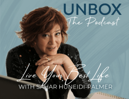 Unbox The Podcas poster with life mentor Sahar