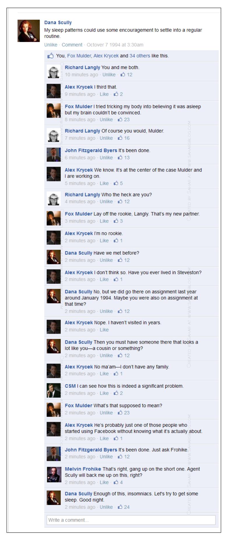 The X-Files Facebook Project on Sahar's Blog s02e04 Sleepless