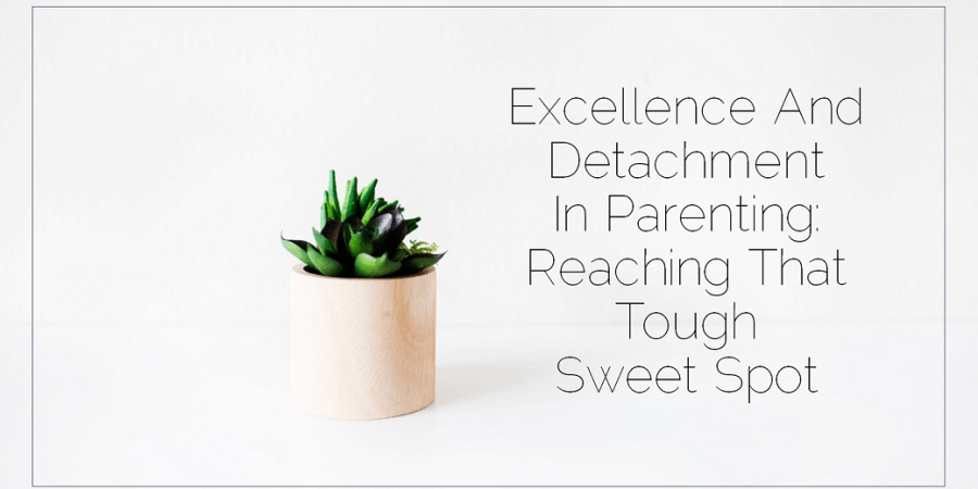 Sahar's Blog 2017 02 10 Excellence and Detachment in Parenting Reaching That Tough Sweet Spot