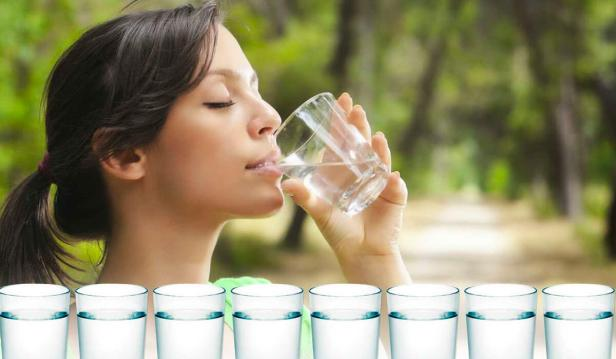 كمية شرب المياه في اليوم