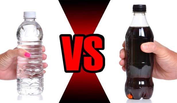 استبدل المشروبات الغازية بالماء