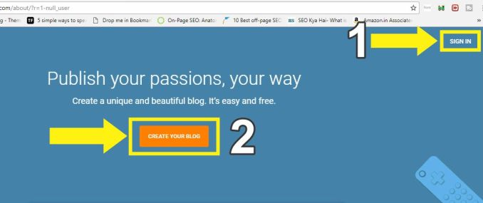SIGN IN या CREATE YOUR BLOG