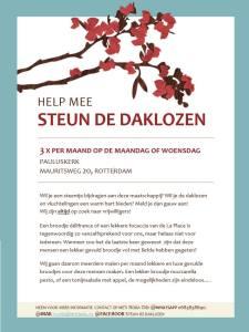 Steun de daklozen flyer