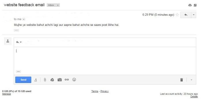 email ka reply karne ka sahi tarika