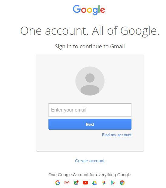 gmail.com ka pehla page