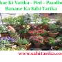 Ghar Ki Vatika - Ped - Paudhe - Banane Ka Sahi Tarika