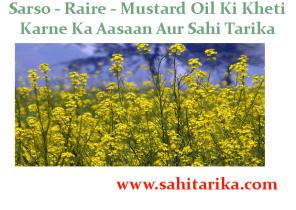 Sarso - Raire - Mustard Oil Ki Kheti Karne Ka Aasaan Aur Sahi Tarika
