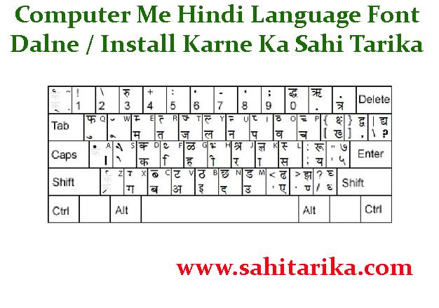 Computer Me Hindi Language Font Dalne / Install Karne Ka Sahi Tarika