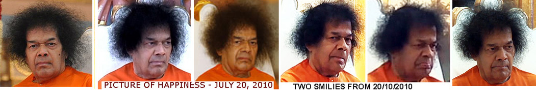 SATHYA SAI BABA dour and dismal countenance
