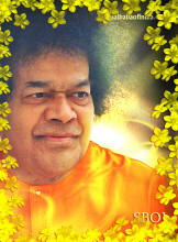 flower frame photo of Bhagawan Sri Sathya Sai Baba
