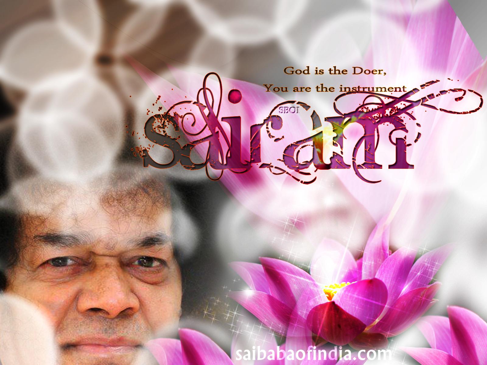 Sri Sathya Sai Baba Wallpaper Sai Baba Of Indias Weblog