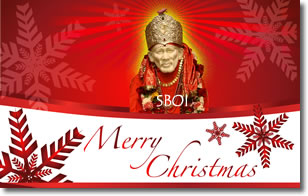 """Christmas blessings- Sri Shirdi Sai Baba"""