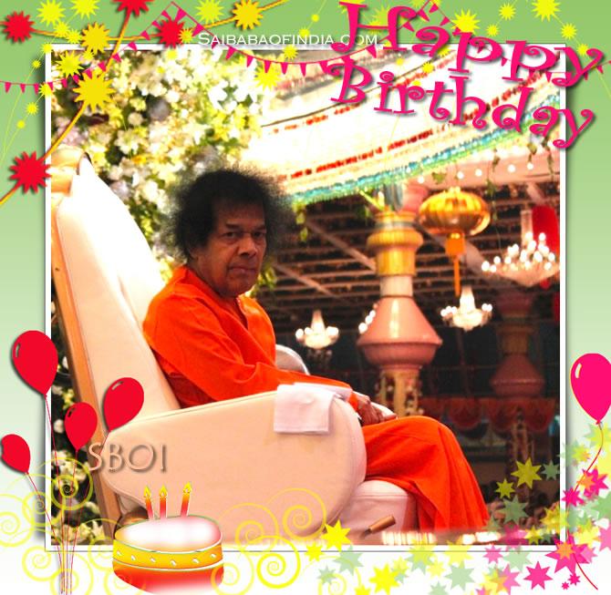 HAPPY BIRTHDAY TO SRI SATHYA SAI BABA