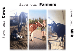 "Sheleby Devet says"" Save our Cows, Farmers, & Milk"" from TPP"