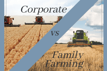 Corporate farming vs family farms