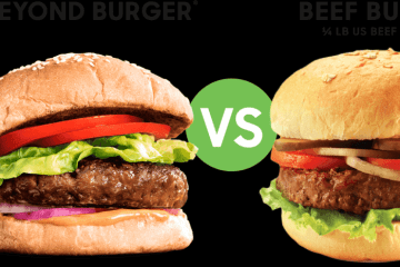 Plant-based burger vs meat burger