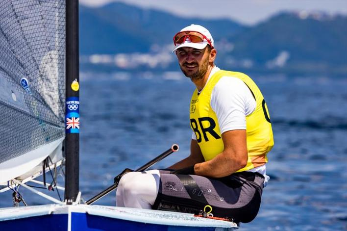 Giles Scott (GBR) on Tokyo 2020 Olympic Sailing Competition Day 8 - photo © Sailing Energy / World Sailing