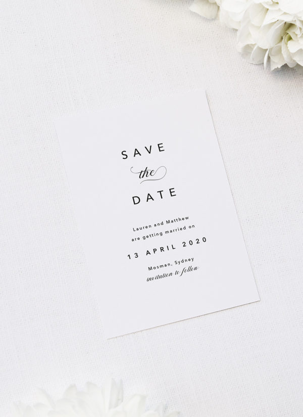 Sophisticated Elegant Names Save the Dates