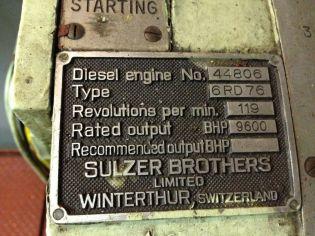 Original Engine Plate