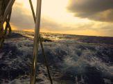 Dusk on the ocean.