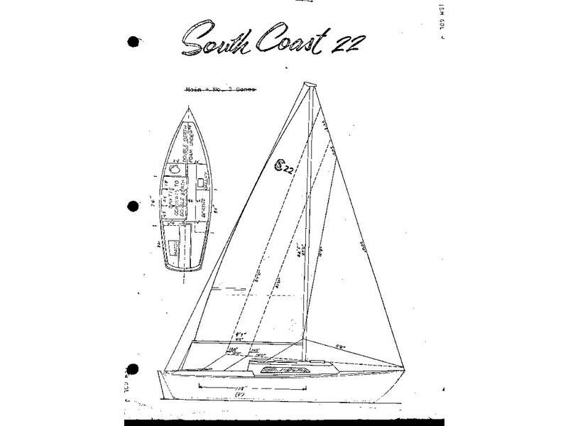 1975 South Coast Seacraft SC-22 sailboat for sale in