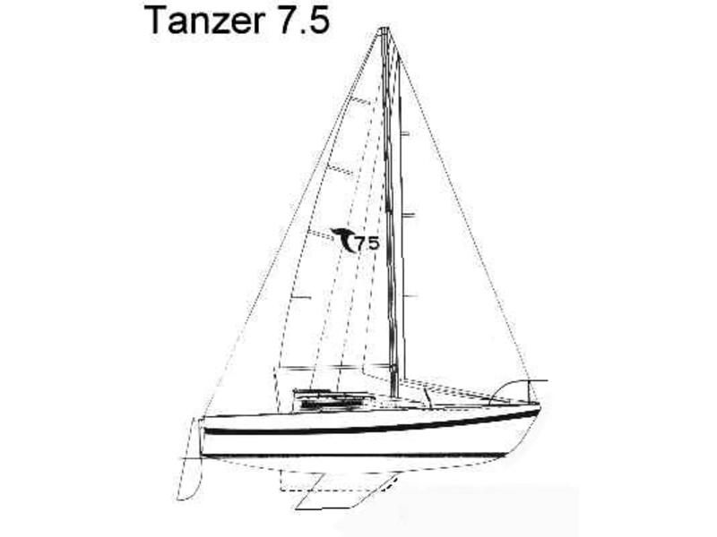 1984 Tanzer 7.5 sailboat for sale in New York