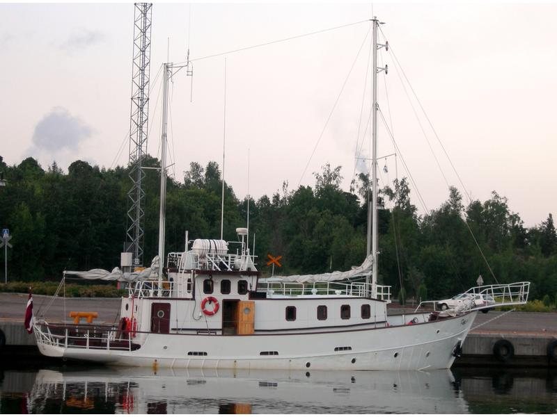 1952 Germany Long Range Steel Motorsailer Trawler Sailboat