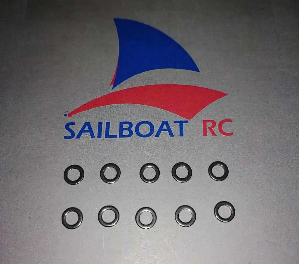 Df65 Df95 Metal Rings For Rig And Main Sheet Sailboat Rc