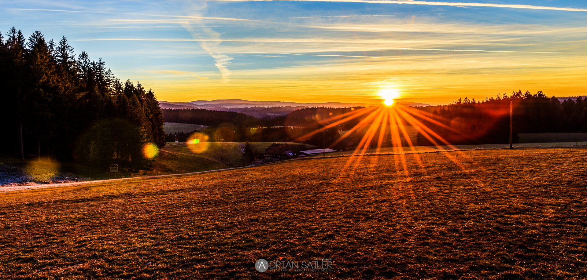 Sonnenuntergang Schwarzwald Furtwangen