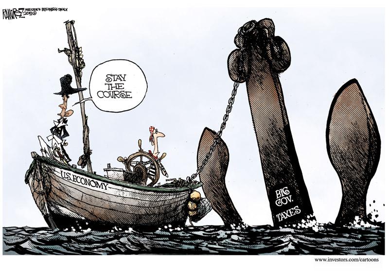 Barack Obama The Sailor Dragging The Anchor