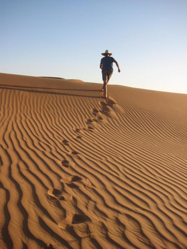 Michel in de woestijn