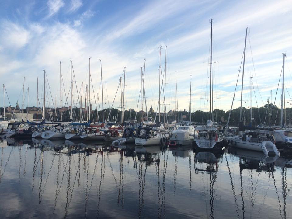 All in a row: evening calm at Wasahamnen in the heart of Stockholm's waterfront