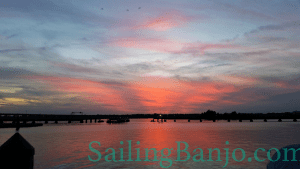 Finally Fall sunset aboard SV Banjo