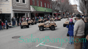 2018 Sudan Shriner's Parade in New Bern, NC Desert Military ATV