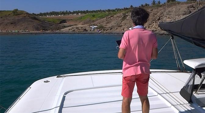CAT'LEYA en mer filmé par le drône