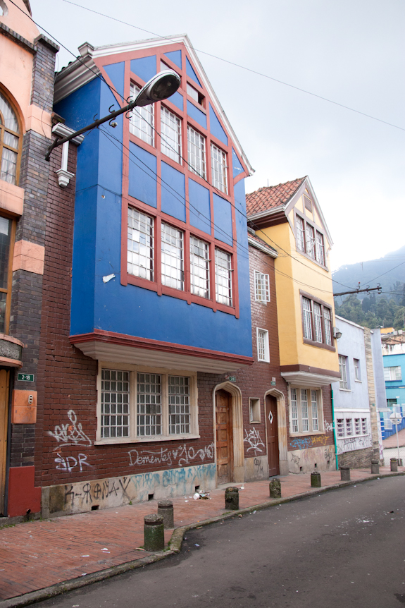 Colorful homes in Bogota Colombia