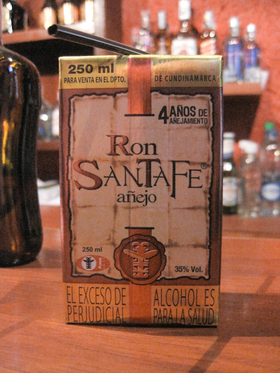 Rum in a Box! Ron Santa Fe enjoyed in Bogota, Colombia