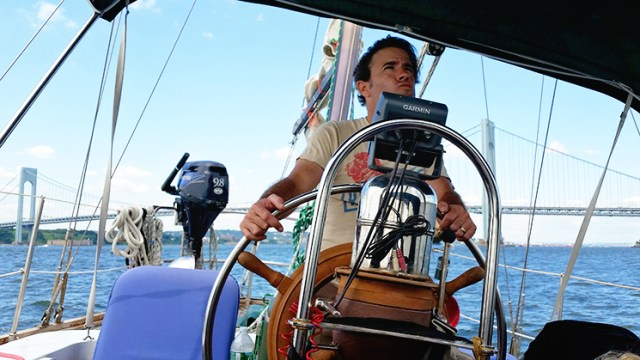 Lance wouldn't let us use the autopilot, he wanted to sail the boat himself.