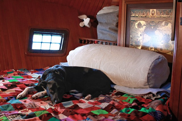 A bolster can make blankets do double duty as the pillow's stuffing saving space in your tiny home.