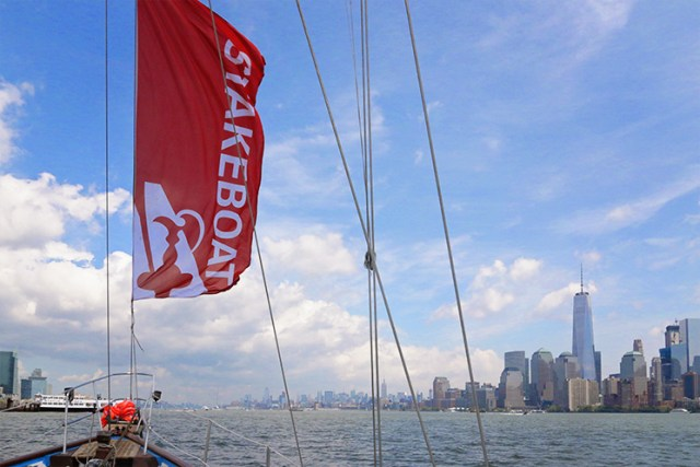 Being an official stakeboat in the America's Cup in NYC has its perks.