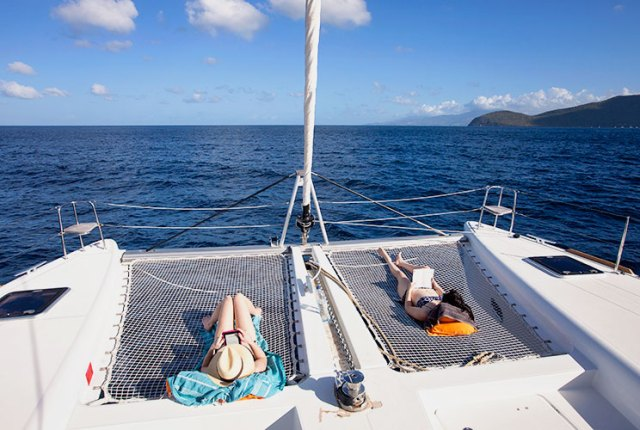 Sailing from Martinique to Dominica is hard work