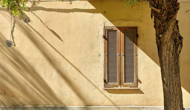 Shuttered window in Alghero, Sardinia