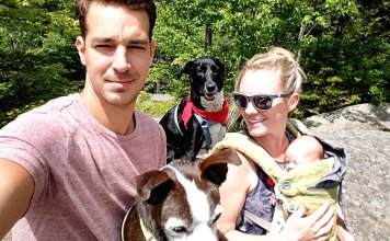 Family hike in Lake Placid, NY