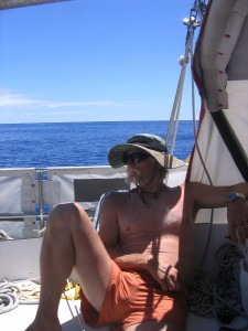 Offshore clothing can be pretty minimal on calm days like this