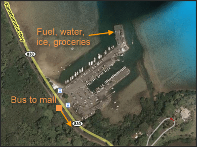 Details of Kaneohe Bay anchorage