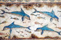 Wall painting of dolphins Knossos palace