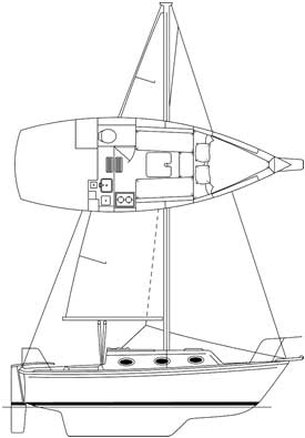 Sovereign 24 sailboat for sale