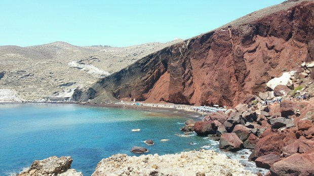 Red Beach mouillage Santorin