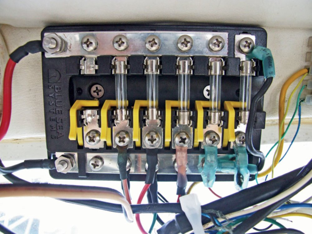 medium resolution of how to upgrade a fuse block sail magazine rh sailmagazine com fuse box ranger boat