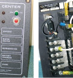 shore power upgrade sail magazinethis older model ac distribution panel has a polarity tester and an [ 1200 x 691 Pixel ]